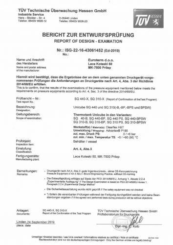 UNIQUBE-PED-Compliance-TUV-Certificate-2020